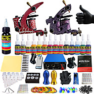 pro tatuagem tatuagem kit completo solong 2 pro máquina s 14 tintas de alimentação apertos de agulha