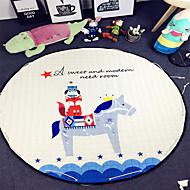 """branco brinquedos cavalo saco de armazenamento de tapete crianças jogo de esteiras de diâmetro 59 """"bebê engatinhando multifuncional rodada"""
