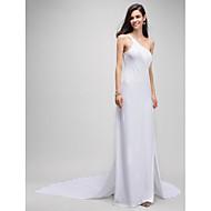 Formeller Abend Kleid Eng anliegend Ein/Schulter Watteau Schleppe Jersey mit