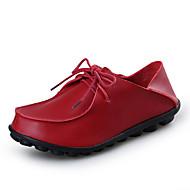 נעלי נשים-אוקספורד-עור-נוחות-שחור / חום / אדום-קז'ואל-עקב שטוח