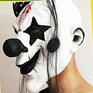 hauska pelottava klovni maski osapuoli halloween uusi vuosi klovni latex maski cosplay puku täynnä kasvonaamiot pitkät hiukset