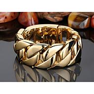 Karkötők Lánc & láncszem karkötők Rozsdamentes acél Geometric Shape Divat Parti Ékszerek Ajándék Aranyozott,1db