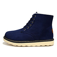 Men's Shoes Suede Athletic / Casual Boots Athletic / Casual Sneaker Flat Heel Lace-up Black / Blue / Brown / Gray