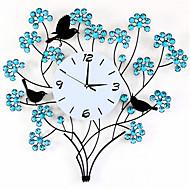 Rond Moderne/Contemporain Horloge murale,Autres Métal 67*67*7