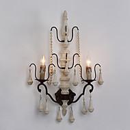 Doppelköpfe Holz mit Metall-Material Plating Farbe Retro-Stil Wandleuchte für den Innen verzieren Wandlampe
