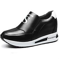 Tenisky-Syntetika-Creepers-Dámská obuv-Černá / Bílá-Běžné / Atletika-Platformy
