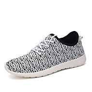 Women's Shoes Tulle Spring / Fall Mary Jane / Comfort / Flats Sneakers / Flats Casual Flat Heel Lace-up Black/Red/White