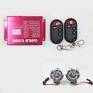 antykradzieżowy system alarmowy dźwięku srebrny motocykl odtwarzacz mp3 głośniki bezprzewodowe silnika pilot