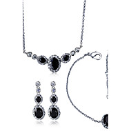 Jewelry Necklaces / Earrings / Bracelets & Bangles Bridal Jewelry Sets / 3 pcs Fashionable Wedding / Party / Daily / Casual / N/ACubic