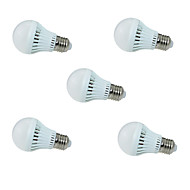5pcs HRY® 3W E27 2835SMD Cool White Sound & Light Control Lamp LED Smart Bulbs(220-240V)