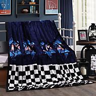 Dark blue Fleece fabric blanket summer comforter Air conditioning throw winter soft bedsheet