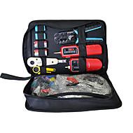 hjem ledningsnett kit, kabelklemme, line tester, krystall stripping, wire cutter, nettverk verktøysett