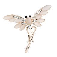 módní pozlacené opálová slitina vážka brože pro ženy