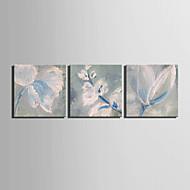 Handgeschilderde Bloemenmotief/Botanisch Olie schilderijen,Modern / Europese Stijl Eén paneel Canvas Hang-geschilderd olieverfschilderij