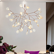 KWB 63 LED Innovation Firefly Pendant Light Modern Northern Europe Modern Creative Snowflake Tree Leaf Pendant Lamps