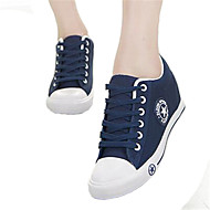 Women's Shoes Low Heel Round Toe Fashion Sneakers Casual Black/Blue/Green/Red/White