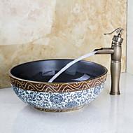 Centerset Single Handle One Hole in Antique Bronze Bathroom Sink Faucet