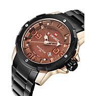 NAVIFORCE® Luxury Brand Men Military Fashion 3D Dial Date Display Black Stainless Steel Quartz Watch Fashion Wrist Watch Cool Watch