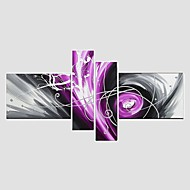 Hand-Painted Abstract Modern 4 Panels Canvas Oil Painting For Home Decoration Stretched Frame Ready To Hang