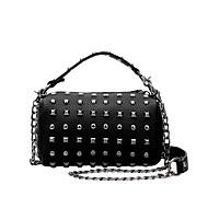 Women  Retro Rivets PU Casual  Shopping Bucket Bags Shoulder Handbag Coin Purse