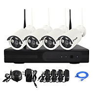 YanSe® 1.3MP PNP Wireless NVR Kit IR Night Vision Security IP Camera WIFI CCTV System(4pcs/HDMI/960P/P2P)