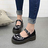 Women's Flats Spring / Fall Creepers / Round Toe PU Outdoor Platform Animal Print Black / Brown Others