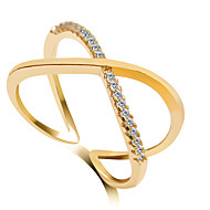 Ring Crossover Wedding / Party Jewelry Alloy Women Statement Rings 1pc,6 / 7 / 8 / 9 Gold / Silver / Rose Gold