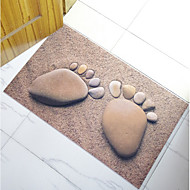 Badewannematten-Modern-Dunkelbraun-Polyester
