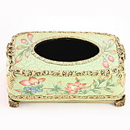 Retro European Rural Countryside Style Resin Tissue Box(Random Colors)