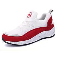 Sneakers-Ruskind PU-Komfort-Dame-Sort Rød Grå-Fritid Sport-Platå
