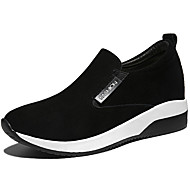 נשים-נעליים ללא שרוכים-סינטתי-נוחות-שחור / אדום-קז'ואל / ספורט-פלטפורמה