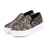 Women's Loafers & Slip-Ons Spring / Fall Creepers / Round Toe Leather / Glitter Outdoor Platform Sequin   Others