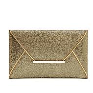 Women PU Casual Satchel Gold Sequined Wrist Evening Envelope Paper Bags