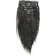 Italienisch grobe yaki Clip in den Menschenhaarverlängerungen verworrenen gerade 6a brasilianisches Haar gerade Menschenhaar 100%