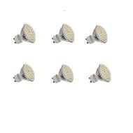 5W GU10 Lâmpadas de Foco de LED Encaixe Embutido 60 SMD 3528 300LM lm Branco Quente / Branco Frio Decorativa AC 220-240 / DC 12 V 6 pçs