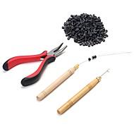 Peruca Adhesive Glue Alicate Agulha para Extensão com Anel Micro link/Anéis Instrumentos  para Extensão Keratine 4Ferramentas perucas de