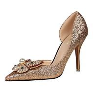 Westland® Women's Stiletto Heels/High heels/Pointed Toe Glitter/Wedding/Party & Evening/Dress Rhinestone/Red  heels