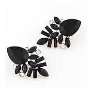 Øreringe Leaf Shape Smykker 1 par Mode Bryllup / Daglig / Afslappet Akryl Dame Rosa / Sort / Rød / Blå