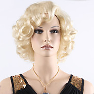 Sexy Ladies Europe Short Blonde Curly Wig Heat Resistant Synthetic Wigs