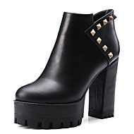 Women's Boots Fall / Winter Fashion Boots / Bootie / Round Toe Party & Evening / Dress / Casual Chunky Heel Rivet