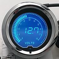 2 «7 χρώματα μπλε κόκκινο οδήγησε την τάση του αυτοκινήτου μετρητή αυτόματη ψηφιακή volt 52 χιλιοστά μετρητή απόχρωση len