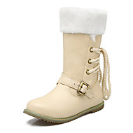Women's Boots Fall / Winter Fashion Boots / Round Toe Office & Career / Dress / Casual Low Heel Buckle / Fur / Lace-up