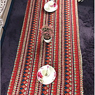 Mediterranean Cotton Linen Table Cloth Bohemian Red Dust Tablecloths (140 * 140cm)