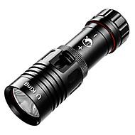 U`King® פנס LED LED 1200LM Lumens 1 מצב T6 XM-L2 / קריס XM-L2 18650 Dimmable / עמיד למים צלילה/ שייט סגסוגת אלומניום