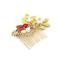 Femme Strass Alliage Imitation de perle Casque-Mariage Occasion spéciale DécontractéSerre-tête Peigne Fleurs Accessoires pour Cheveux