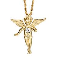 Homens Colares com Pendentes Aço Inoxidável Chapeado Dourado 18K ouro Moda Dourado Jóias Para Diário Casual 1peça