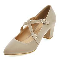 נעלי נשים-עקבים-פליז-עקבים / נעלי בובה (מרי ג'יין) / שפיץ-שחור / כחול / ורוד / בז'-משרד ועבודה / שמלה / קז'ואל-עקב עבה