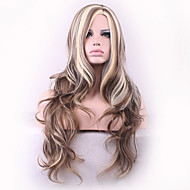 New Cos Wig Flax Mixed Color in Brown Curly Hair Wig 26 Inch