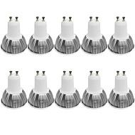 3W GU10 LED bodovky MR16 1 COB 380LM lm Teplá bílá / Chladná bílá Stmívací / Ozdobné AC 100-240 / AC 110-130 V 10 ks