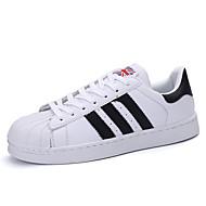Masculino-Tênis-Conforto-Rasteiro-Preto / Azul / Branco-Microfibra-Ar-Livre / Casual / Para Esporte